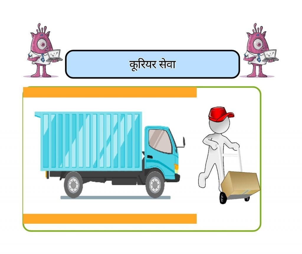 Courier service Business ideas In hindi In this image I have seen some creativity about this Courier service business.
